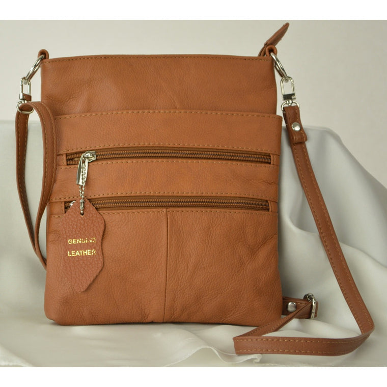 Camille Conceals Cosmo Light Brown Concealed Carry Bag
