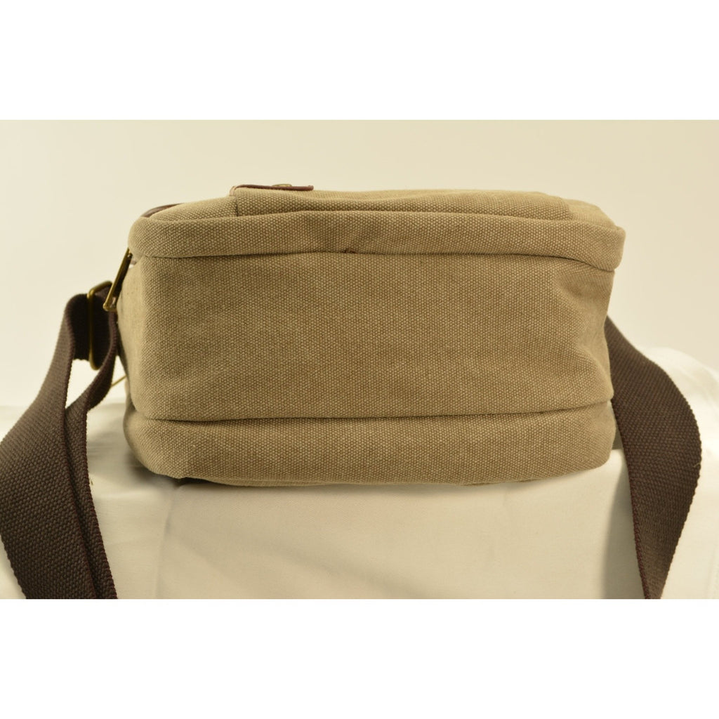 Camille Conceals Fawn Canvas Concealed Carry Bag Profile