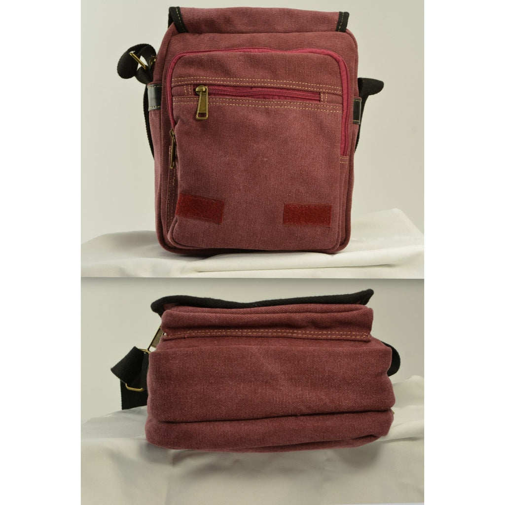 Camille Conceals Burgundy Canvas Concealed Carry Bag - Profiles