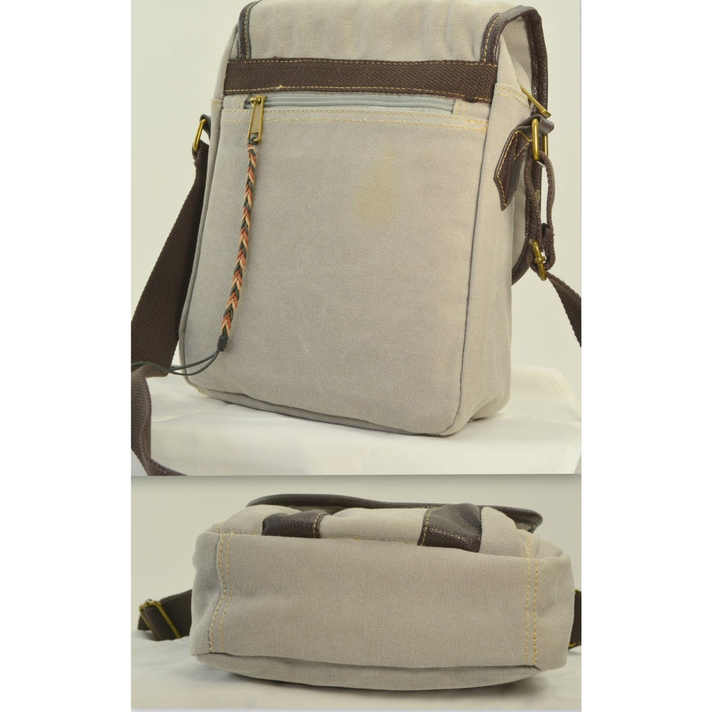 Camille Conceals Pearl Grey Canvas Concealed Carry Profile