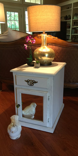 Pair of Mirrored Shabby Chic Side Cabinets