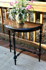 New! Rustic Ebony Turned Leg Occassional Table