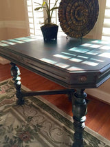 Variegated Blue-Green Occasional Table/Desk