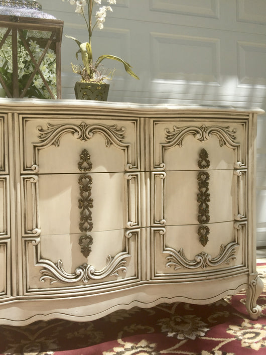 get kitchen scenicroutehwy nursery vintage shop deal vanity credenza etsy dresser provincial bathroom the buffet mirror french drawer island with