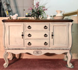 Coastal Chic/Farmhouse Oak Buffet