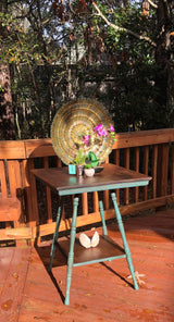 NEW! Antique Turquoise Side Table