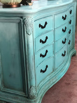 Caribbean Blues Coastal/BOHO Serpentine Dresser