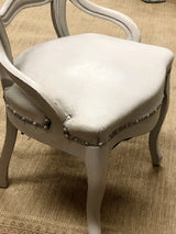 Winter Gray French Provençal Chair