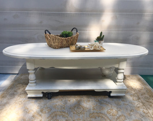 Coastal White Coffee Table