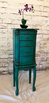 Turquoise Jewelry Armoire