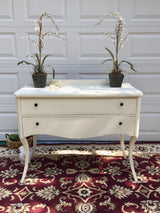 Creamy White Transitional Sideboard/Buffet