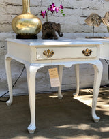 Pair of White Farmhouse/Shabby Chic Side Tables