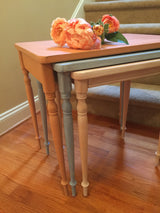 Pale Sunrise Nesting Tables