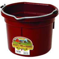 8 Quart Flat Back Plastic Bucket-Miller Mfg-Ludlow Livestock Supply