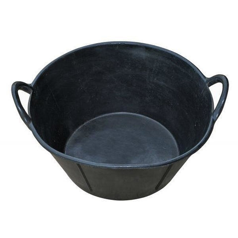 Feed Pan 6.5 Gal Rubber with Handles-Miller Mfg-Ludlow Livestock Supply