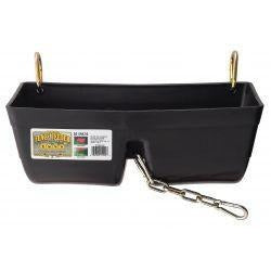 "Fence Feeder 16"" Clip on with Chain-Miller Mfg-Ludlow Livestock Supply"