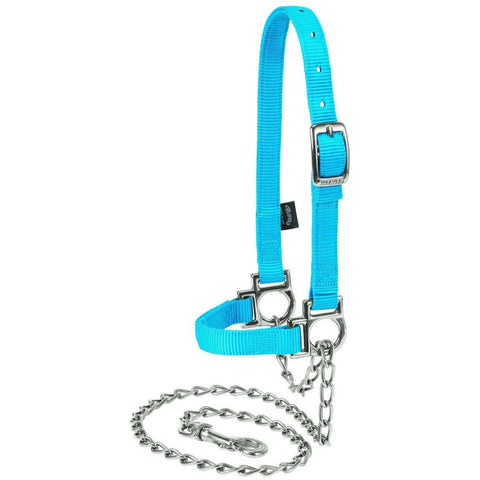 Nylon Adjustable Sheep Halters with Chain Leads-Weaver Leather Livestock-Ludlow Livestock Supply