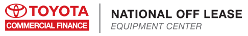 National Off Lease Equipment Sales Center for Toyota Commercial Finance