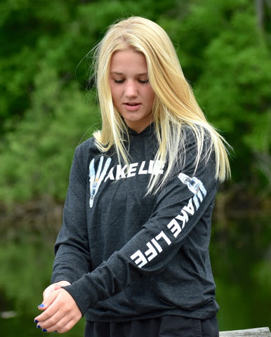 Wake Life Tri Blend Hooded long sleeve pullover