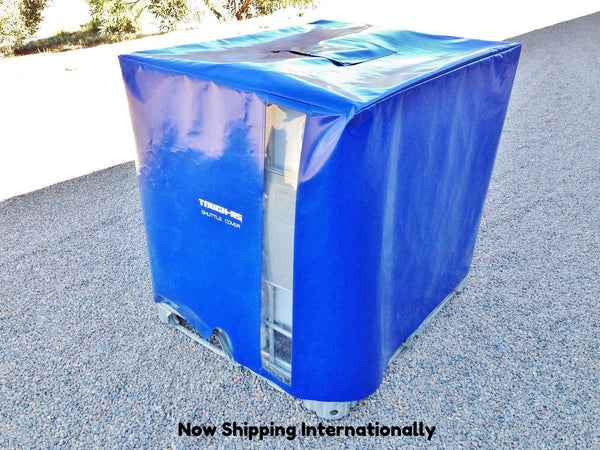 Ibc covers uv protection intermediate bulk container cover for Garage totes 76