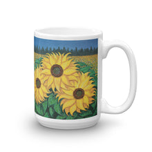 """Paige's Sunflowers"" by Ricky Trione, printed on Quality Mugs"