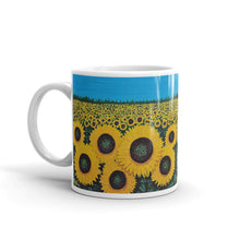 """Jaycees Sunflowers Mug"" by Ricky Trione, printed on quality mugs."