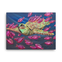 Sea Turtle Love by Ricky Trione  (Printed on Gallery Canvas)