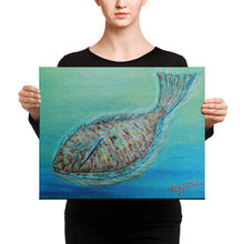 Flounder by Ricky Trione Printed on Gallery Wrapped Canvas