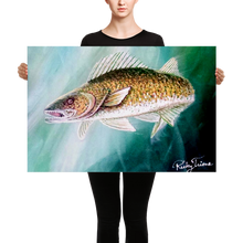 Walleye Pike by Ricky Trione  (Canvas Print)