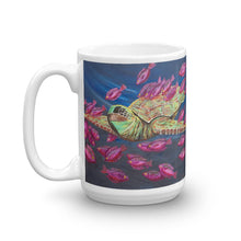 """Sea Turtle Mug"" by Ricky Trione, print from original painting."
