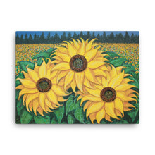 """Paige's Sunflowers""  by Ricky Trione  (Quality Prints on Gallery Wrapped Canvas)"