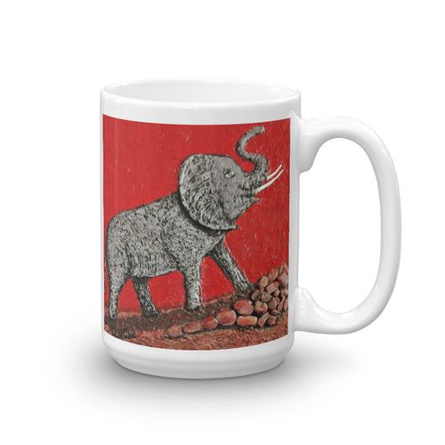 Elephant Charging Mug by Ricky Trione