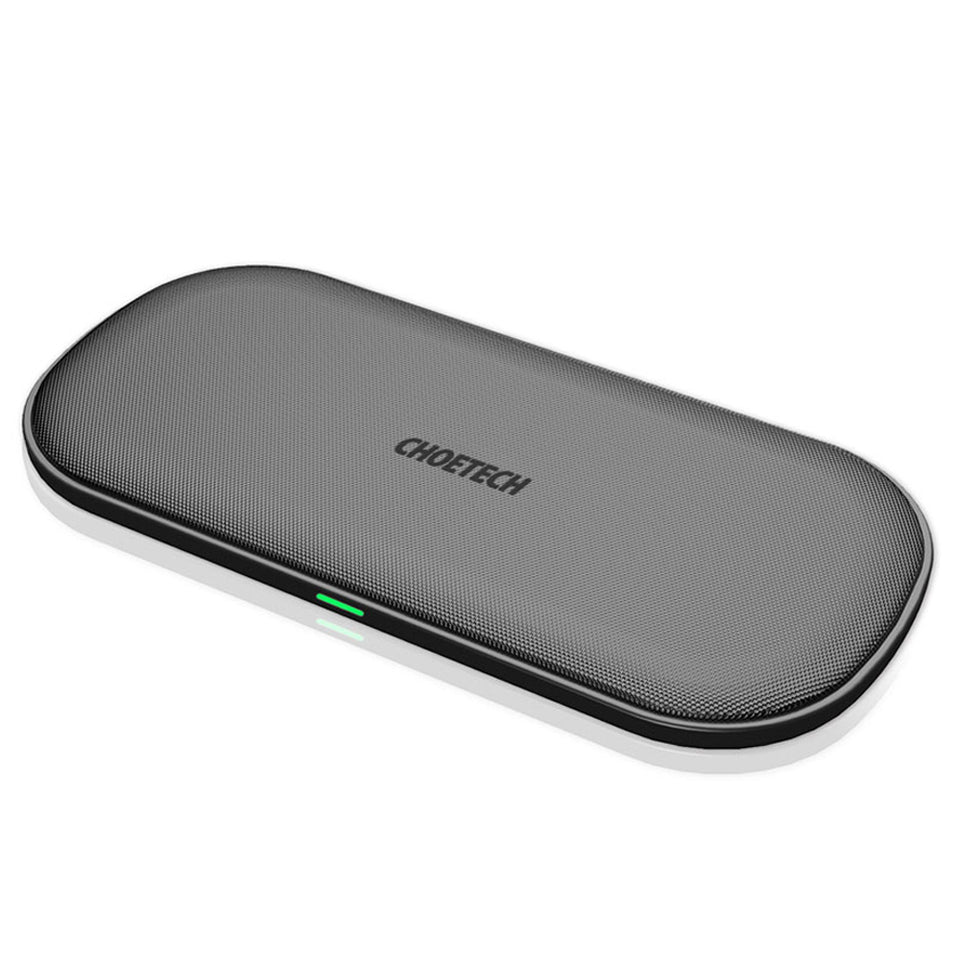 Choetech Dual fast Wireless Charger Charging Pad 5 Coils