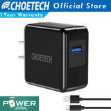 Choetech 18Watts Quick Charge 3.0 Wall Charger QC3.0 Adapter Free Micro USB Cable or USB C