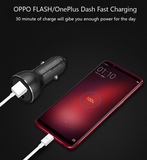 VOOC/DASH Flash Charge/Quick Charge 3.0 Car charger dual port