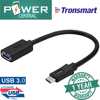 Tronsmart CC03 OTG USB 3.0 Type - C to USB A cable 0.3ft
