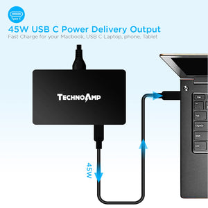 Technoamp WC4QPD 4 port 3 Quick charge 3.0/ Huawei FCP and 1 USB PD 45watts
