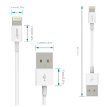 Aukey 0.66ft Iphone Lightning Cable MFi Certified