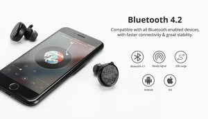 Tronsmart Encore Spunky Buds Bluetooth Earphones Wireless Earphone True Wireless Stereo Earbuds IPX5 with Mic for Phones