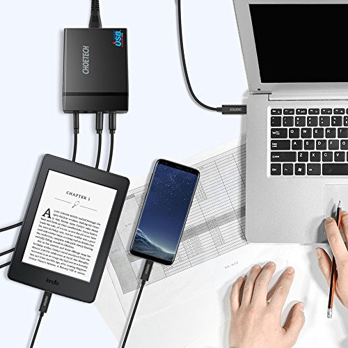 CHOETECH 72W 4 Ports 60W USB C PD Power Delivery Wall Charger