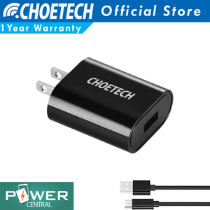 Choetech 5V2.4A Universal Adaptive Charger 12W Fast Charge Free Micro USB Cable 3.3ft