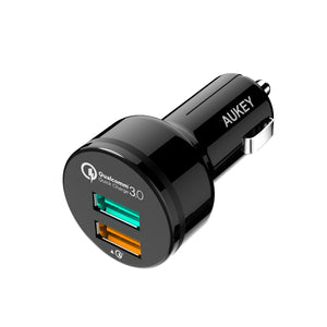 Aukey CC-T7 2 port Car Charger Quick Charge 3.0 fast charge
