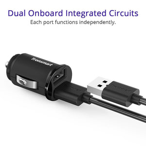 Tronsmart C24 24W Dual USB Ports Flush Fit Car Charger