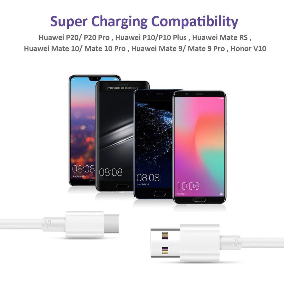 Technoamp 5A Huawei Super Charge USB Type C Cable 3.3ft CA5ASC
