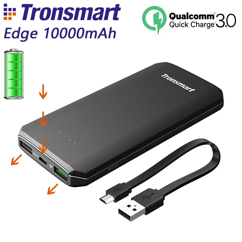 Tronsmart 10000mAh Powerbank w/ quick Charge 3.0 and Huawei FCP