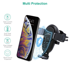 Choetech Fast Wireless Car Charger 7.5W/10W Fast Charging Qi Automatic Air Vent Mount Phone Holder