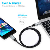 Choetech USB C to USB C 3.3ft Braided Cable PD QC3.0 Ready