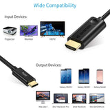 CHOETECH USB C to HDMI Cable (4K@60Hz), 6ft/1.8m Mac S9 P20
