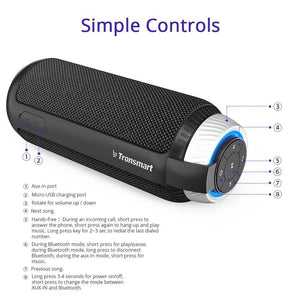 Tronsmart Element T6 Bluetooth Speaker 25 Watt Dual Driver 15 Hours Playtime