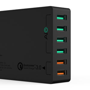 AUKEY 6 Port USB Wall Charger W Dual Quick Charge 3.0 PA-T11